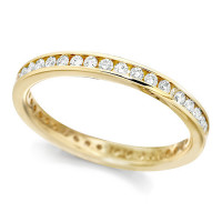18ct Yellow Gold Ladies Channel Set Full Eternity Ring  Set With 0.50ct Of Diamonds