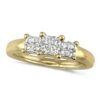 18ct Yellow Gold Ladies 0.76ct Princess Cut Diamond Engagement Ring