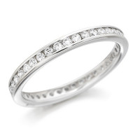 Platinum Ladies Channel Set Full Eternity Ring  Set With 0.50ct Of Diamonds