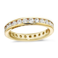 18ct Yellow Gold Ladies Channel Set Full Eternity Ring  Set With 1ct Of Diamonds