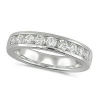 Platinum Ladies Classic three quarter carat Diamond Channel Set Half Eternity Ring
