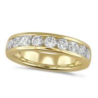 18ct Yellow Gold Ladies Classic 1ct Diamond Channel Set Half Eternity Ring