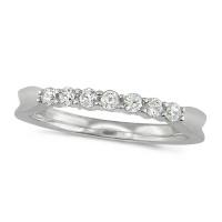 Platinum Ladies Claw Set Half Eternity Ring Set With 0.25ct Of Diamonds