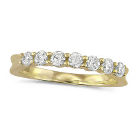 18ct Yellow Gold Ladies Claw Set Half Eternity Ring Set With 0.50ct Of Diamonds
