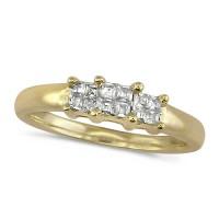 18ct Yellow Gold Ladies 0.25ct Princess Cut Diamond Engagement Ring