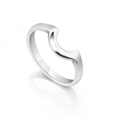 Curved Shaped Wedding Ring to Fit Around Your Engagement Ring