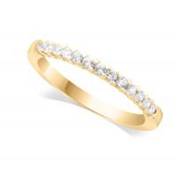 9ct Yellow Gold Ladies 13-Stone Diamond Wedding Ring Set with 0.20ct of Diamonds