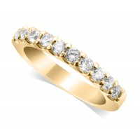 9ct Yellow Gold Ladies 10-Stone Diamond Wedding Ring Set with 0.35ct of Diamonds