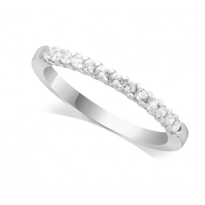 9ct White Gold Ladies 13-Stone Diamond Wedding Ring Set with 0.20ct of Diamonds