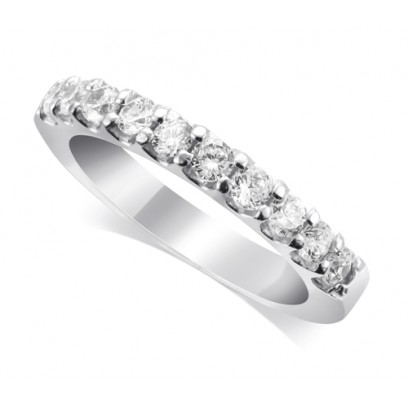 9ct White Gold Ladies 10-Stone Diamond Wedding Ring Set with 0.35ct of Diamonds