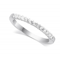18ct White Gold Ladies 13-Stone Diamond Wedding Ring Set with 0.20ct of Diamonds