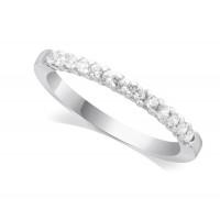 Palladium Ladies 13-Stone Diamond Wedding Ring Set with 0.20ct of Diamonds