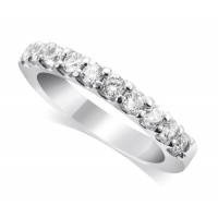 Palladium Ladies 10-Stone Diamond Wedding Ring Set with 0.35ct of Diamonds