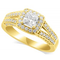 18ct Yellow Gold Ladies Magnificent Diamond Engagement Ring Set with 1.03ct of Diamonds