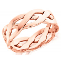 18ct Rose Gold Gents 6mm Open Celtic Plait Wedding Ring